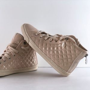 Geox New Club Quilted High Top Trainers